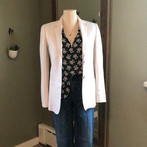 Jcrew Mercantile White Linen Blazer